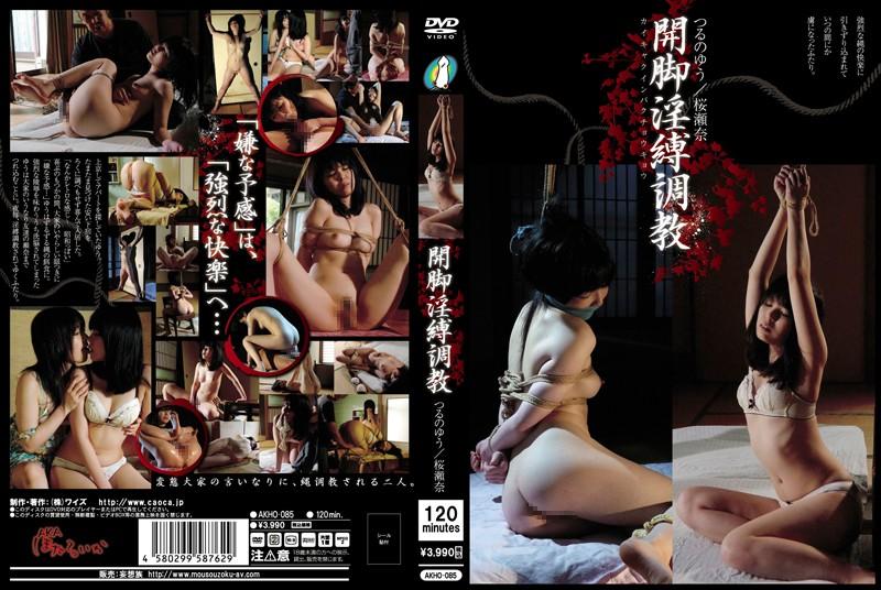 [AKHO-085] 開脚淫縛調教 つるのゆう 桜瀬奈 Torture 2013/12/13