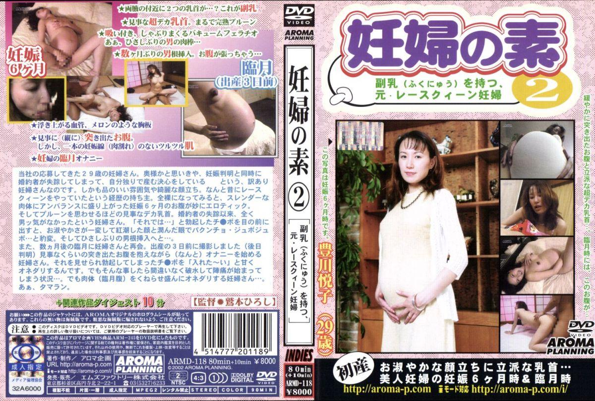 [ARMD-118] Toyokawa Etsuko 妊婦の素 2  副乳を持つ 元・レースクィーン妊娠 AROMA Fetish Pregnant Woman