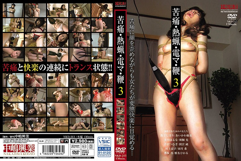 [NKD-213] 苦痛・熱蝋・電マ・鞭 3 Humiliation 130分