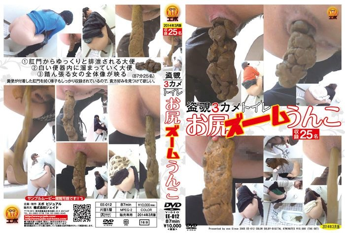 [EE-012] 盗覗3カメトイレ お尻ズームうんこ スカトロ トイレ(盗撮) 投稿 ジェイド