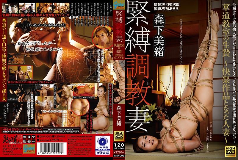 [GMA-003] Morishita Mio 緊縛調教妻 華道教室の生贄 快楽作品となった人妻  調教陵辱 Global Media Annex