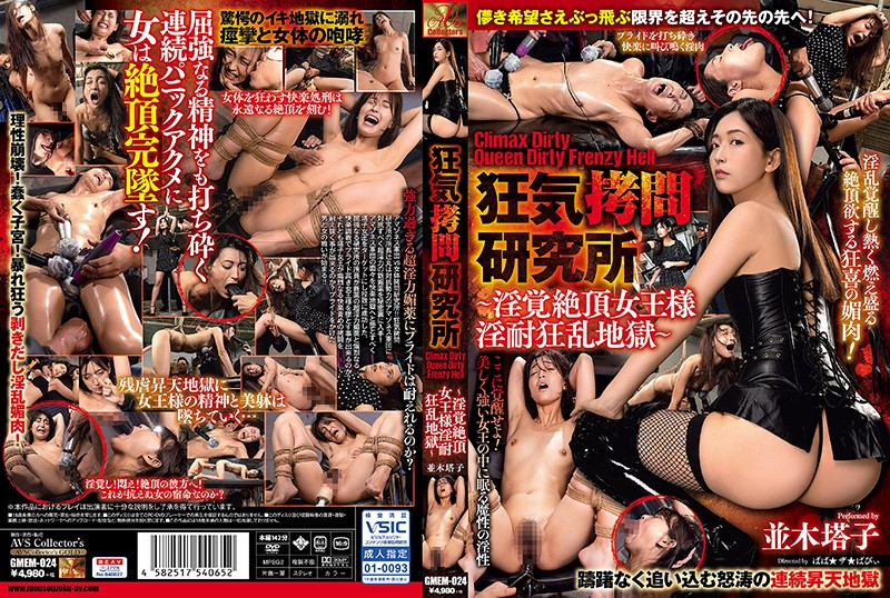 [GMEM-024] Namiki Touko 狂気拷問研究所 Climax Dirty Queen Dirty Frenzy Hell 淫覚絶頂女王様淫耐狂乱地獄 AVSCollector's GOLD Restraints